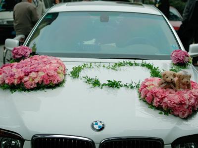 婚车扎花 - 婚礼花车